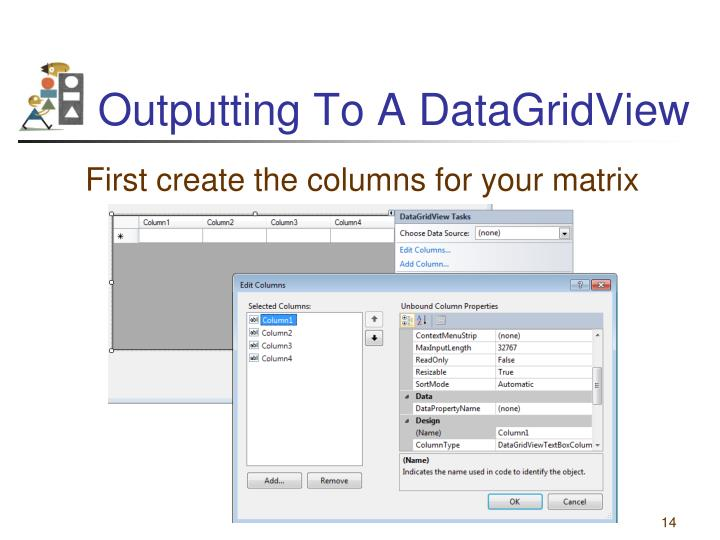 Outputting To A DataGridView