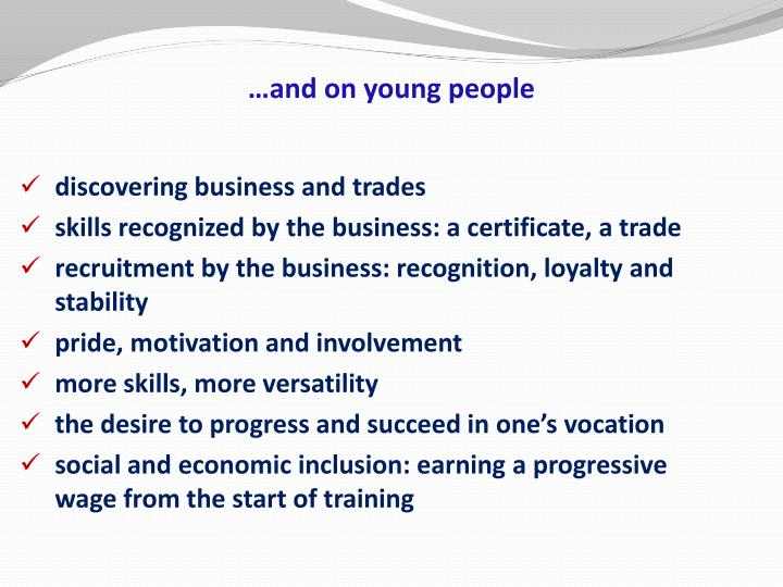 …and on young people
