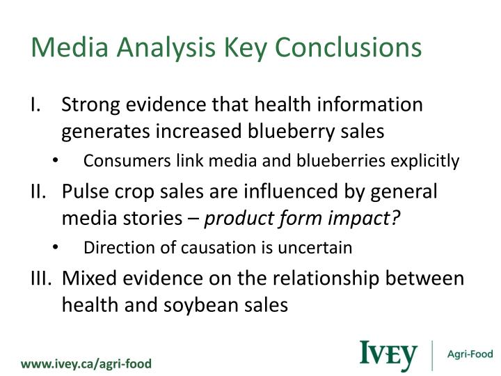 Media Analysis Key Conclusions