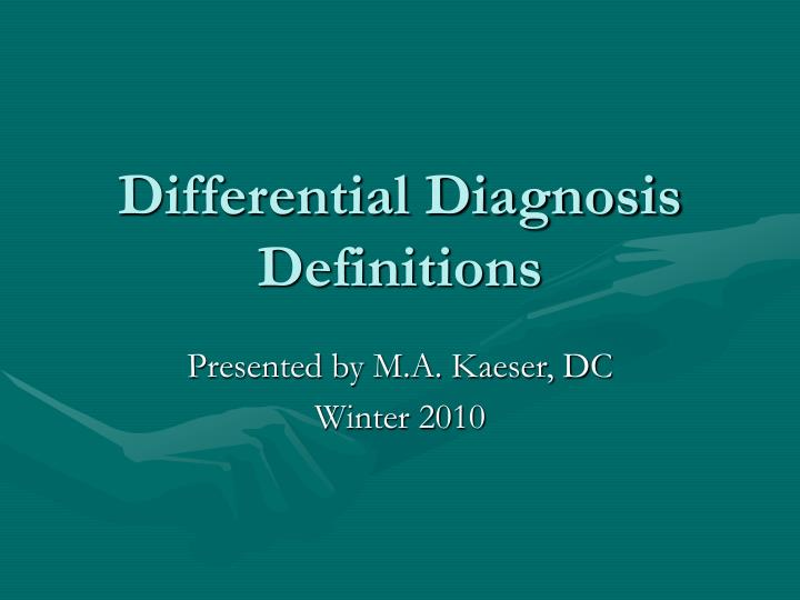 differential diagnosis definitions n.