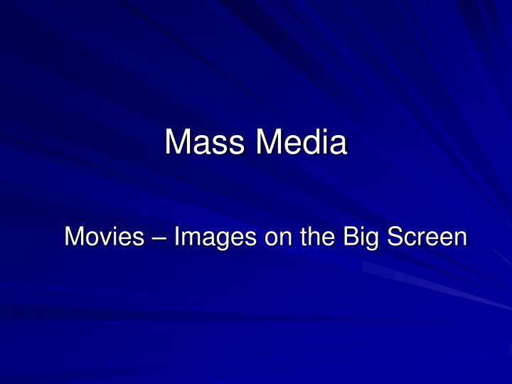 mass media n.
