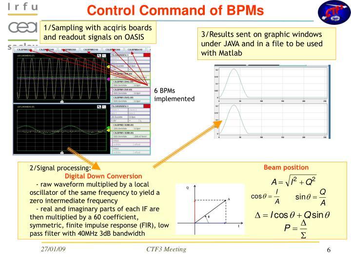 Control Command of BPMs