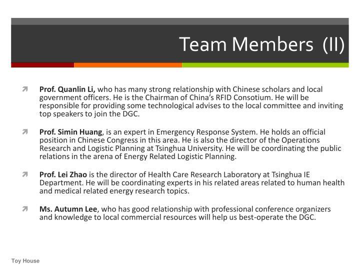 Team Members  (II)