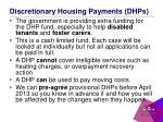 discretionary housing payments dhps