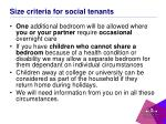 size criteria for social tenants2