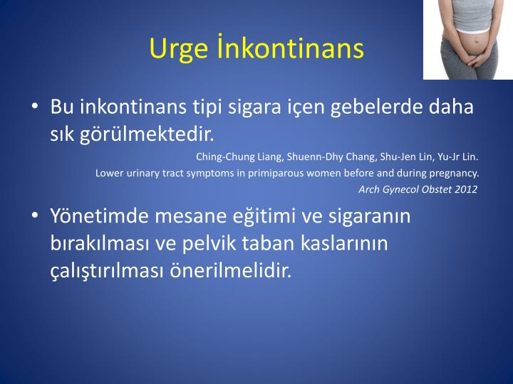 Urge İnkontinans