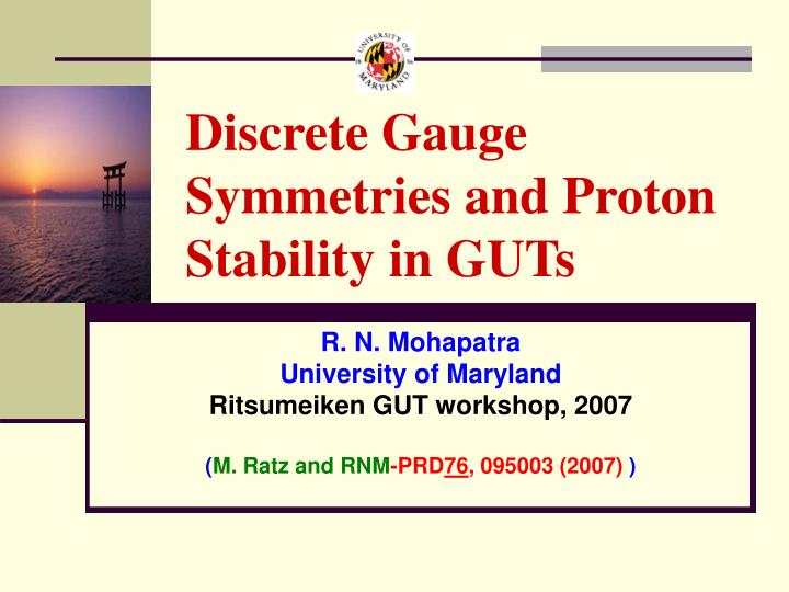 Discrete gauge symmetries and proton stability in guts