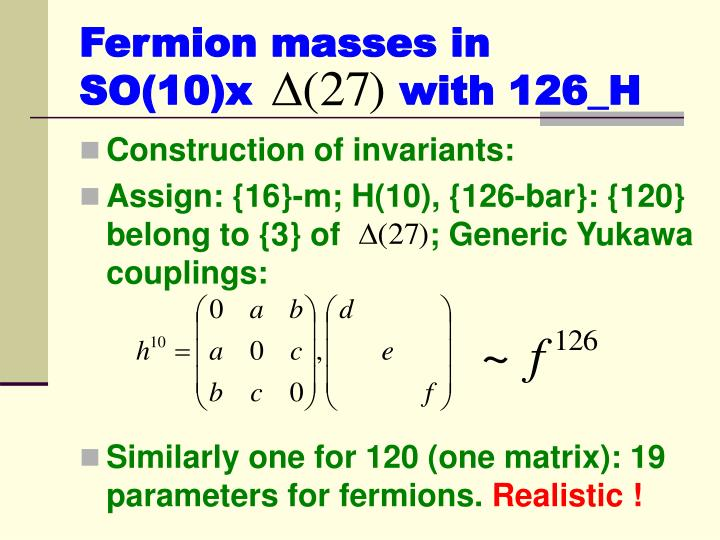 Fermion masses in SO(10)x           with 126_H
