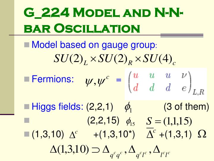 G_224 Model and N-N-bar Oscillation