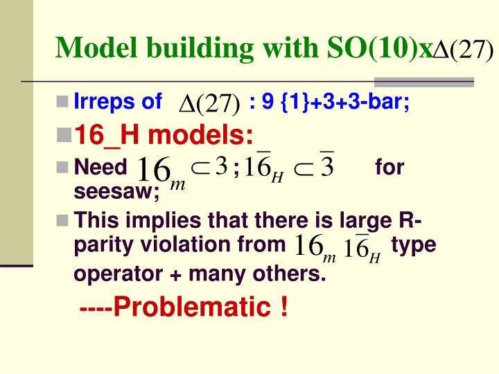 Model building with SO(10)x