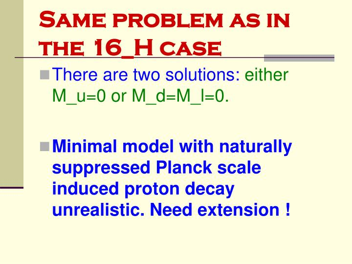Same problem as in the 16_H case