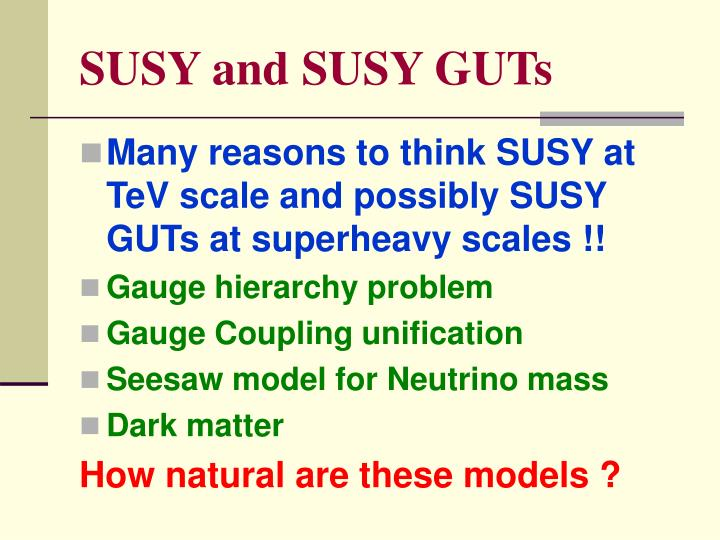 SUSY and SUSY GUTs
