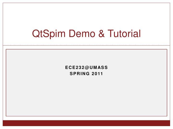 Qtspim demo tutorial