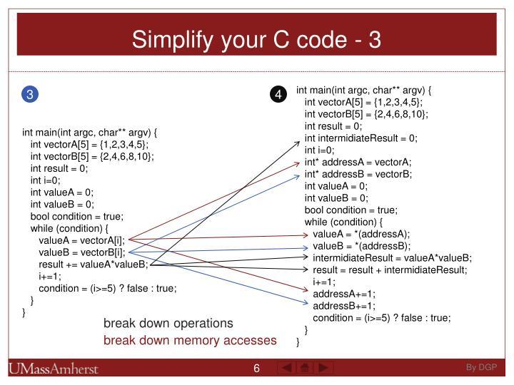 Simplify your C code - 3