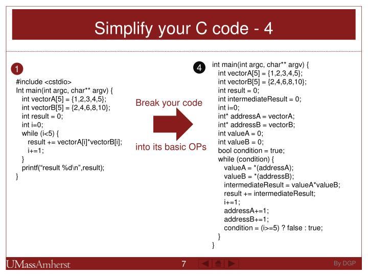 Simplify your C code - 4