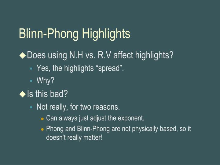 Blinn-Phong Highlights