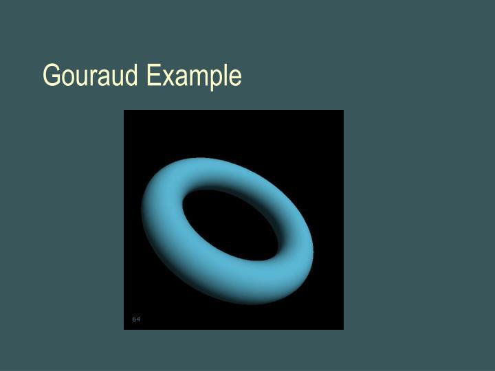 Gouraud Example