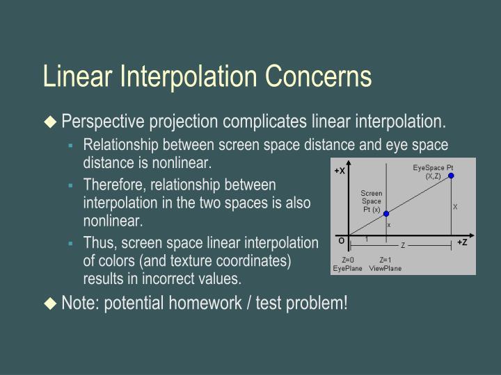Linear Interpolation Concerns