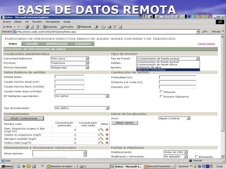 BASE DE DATOS REMOTA