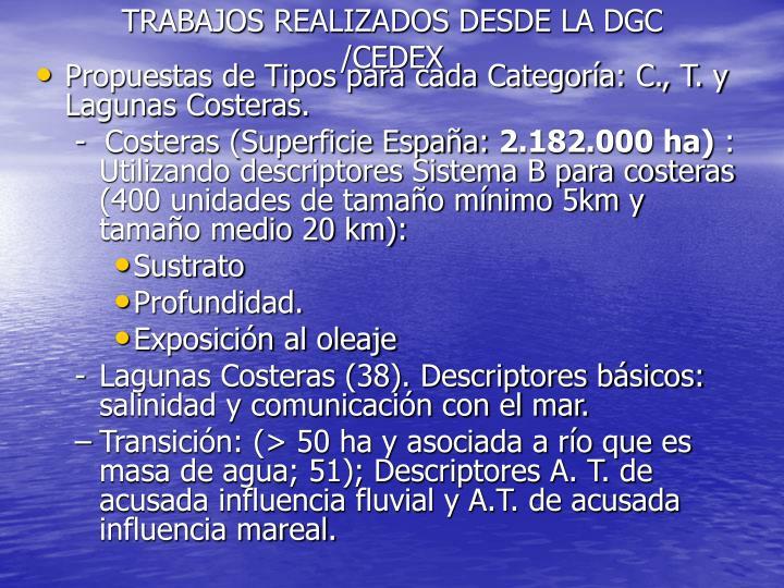 TRABAJOS REALIZADOS DESDE LA DGC