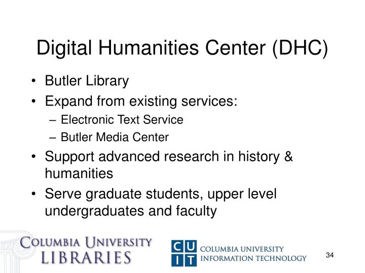 Digital Humanities Center (DHC)