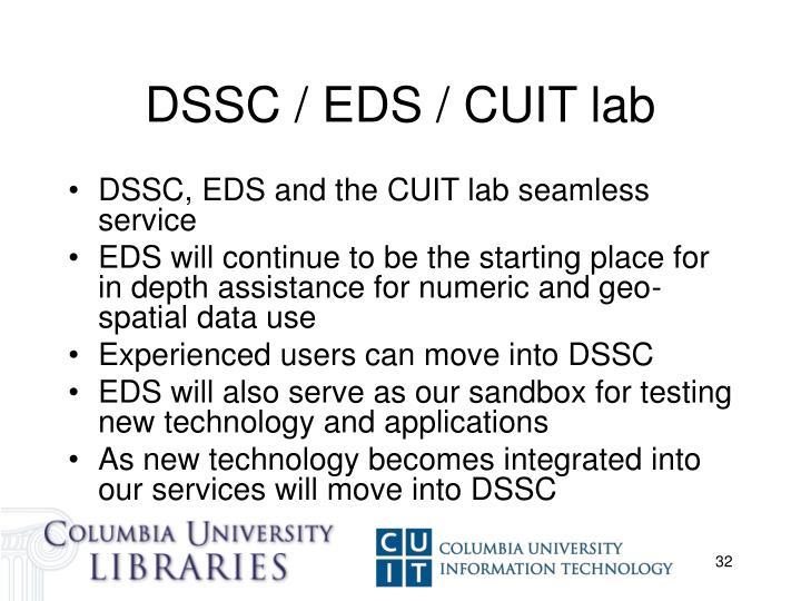 DSSC / EDS / CUIT lab