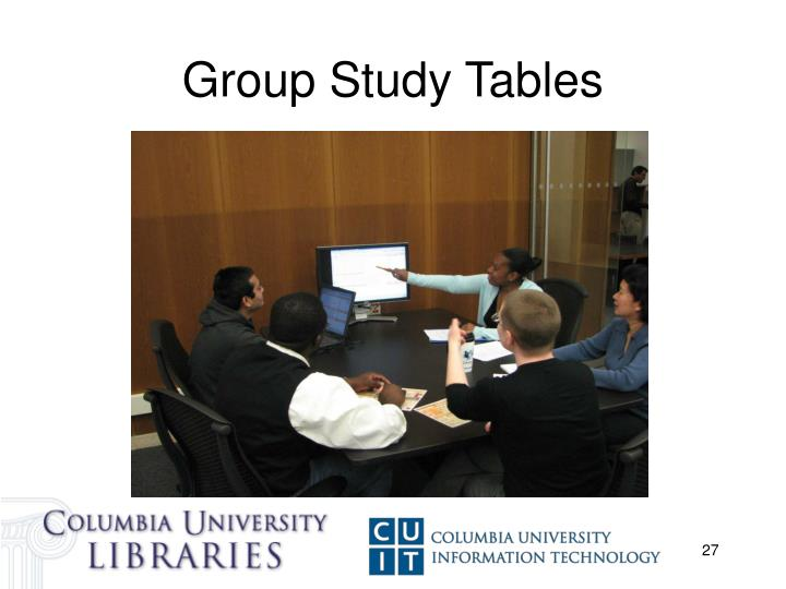 Group Study Tables