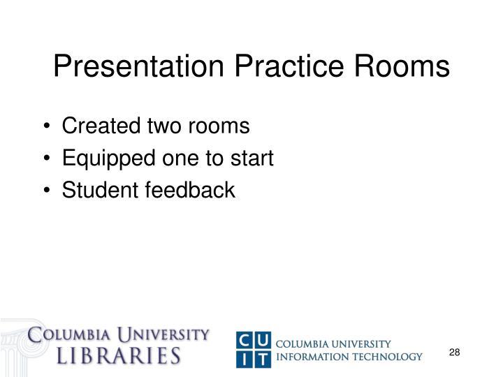 Presentation Practice Rooms