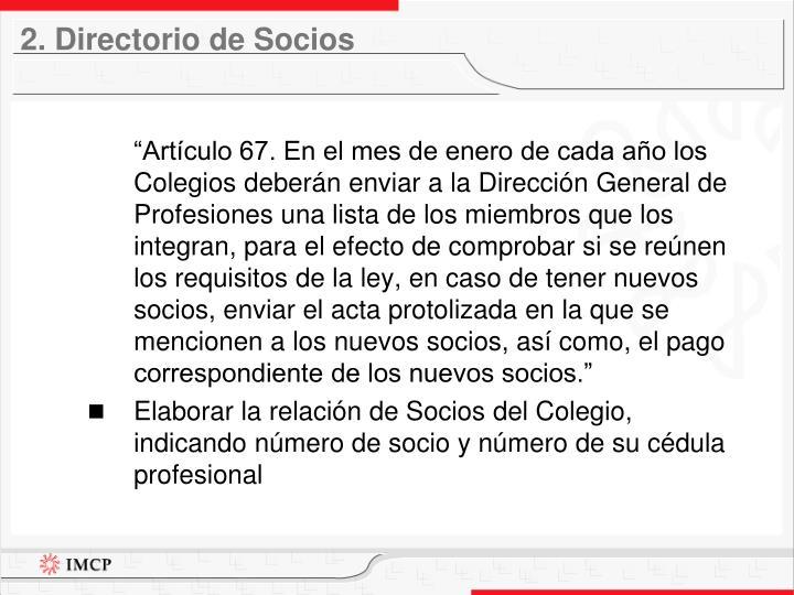 2. Directorio de Socios