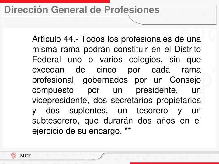 Direcci n general de profesiones1