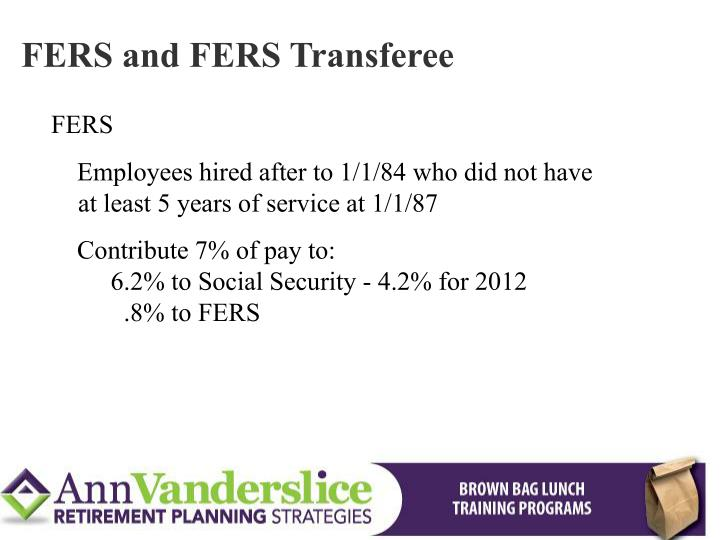 FERS and FERS Transferee