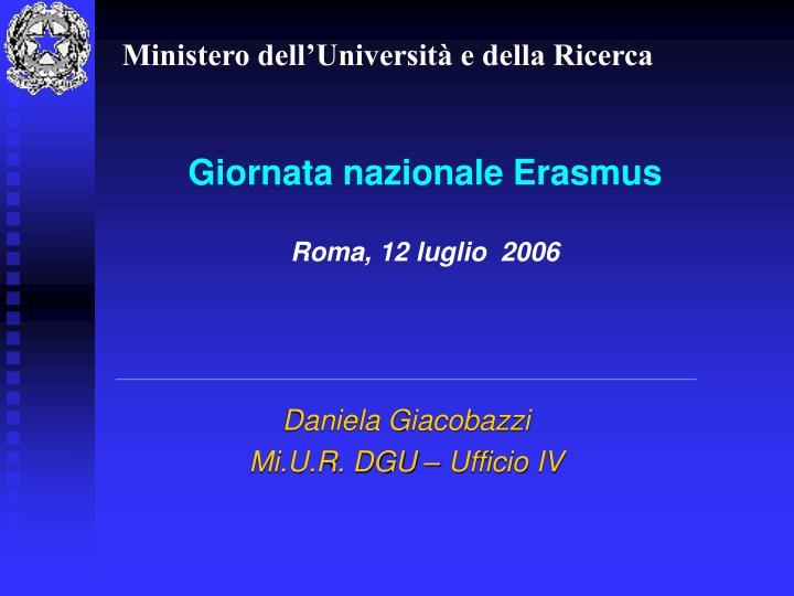 Giornata nazionale erasmus roma 12 luglio 2006