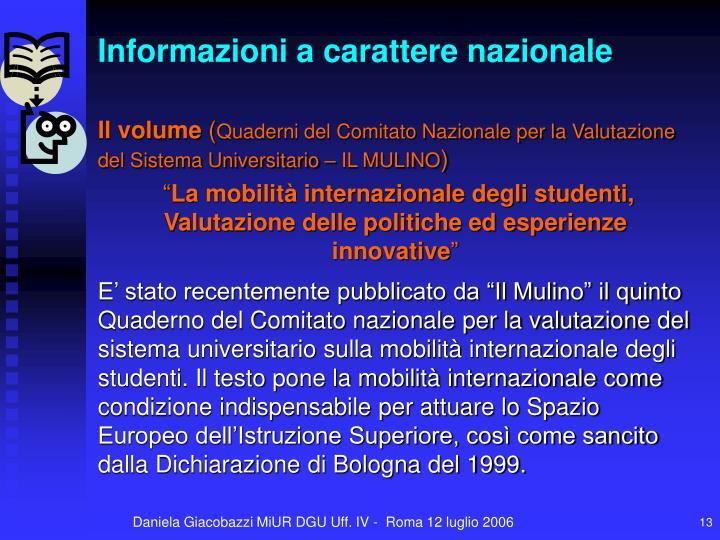 Informazioni a carattere nazionale