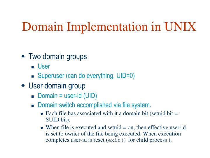 Domain Implementation