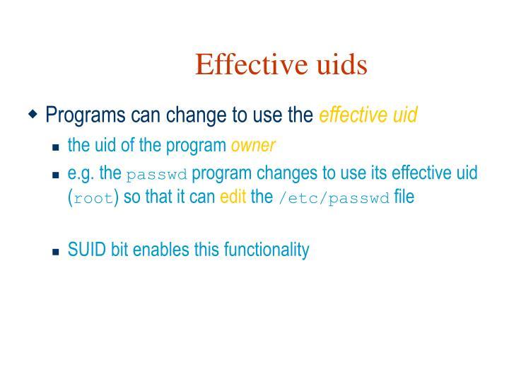 Effective uids