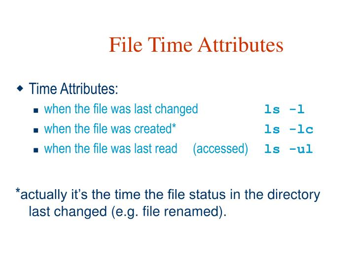 File Time Attributes
