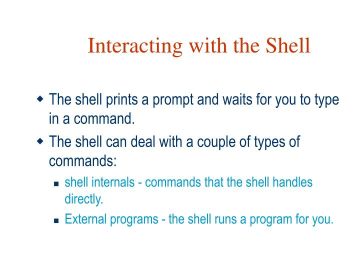 Interacting with the Shell