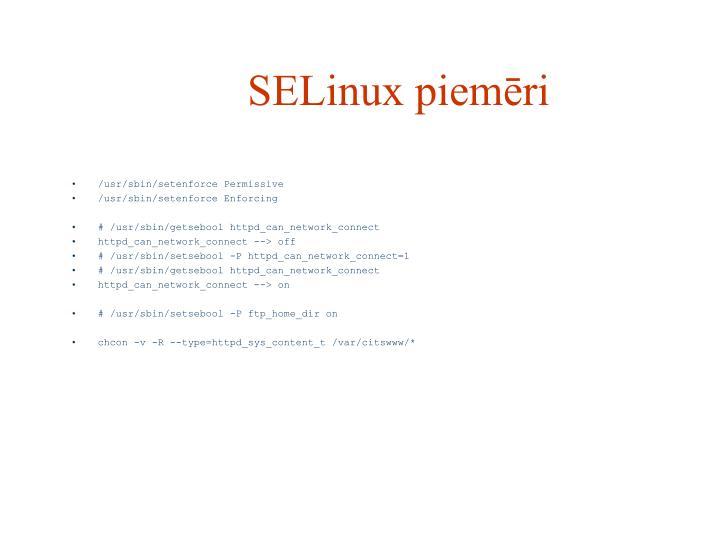 SELinux piemēri