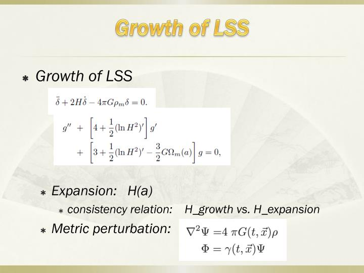 Growth of lss