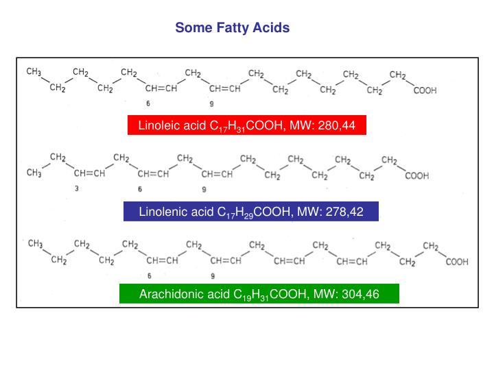 Some Fatty Acids
