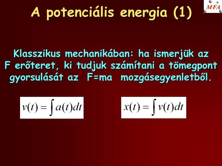 A potenci lis energia 1