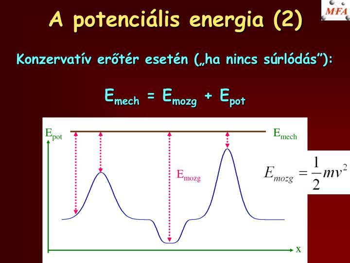 A potenciális energia (2)