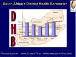 south africa s district health barometer