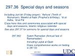 297 36 special days and seasons