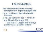 facet indicators