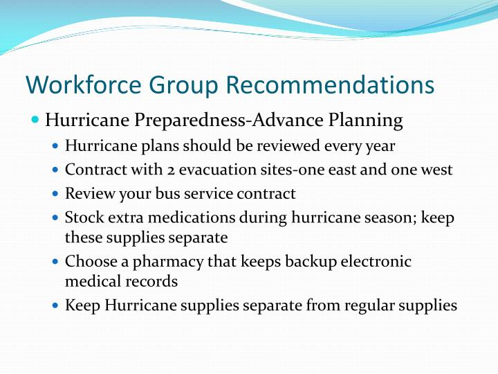 Workforce Group Recommendations