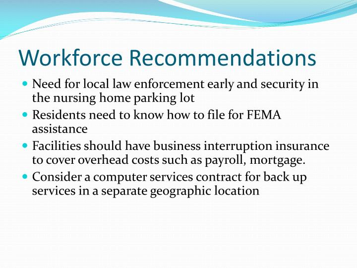 Workforce Recommendations
