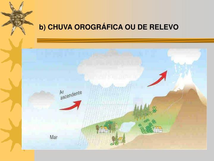 b) CHUVA OROGRÁFICA