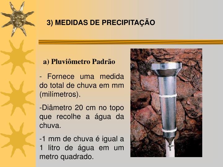 3) MEDIDAS DE PRECIPITAÇÃO