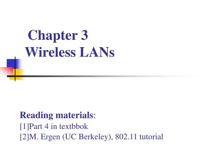 chapter 3 wireless lans n.